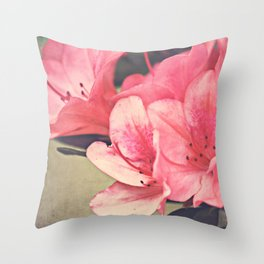 Strawberry Flowers Throw Pillow