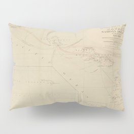Vintage Hawaii Postage Route Map (1903) Pillow Sham
