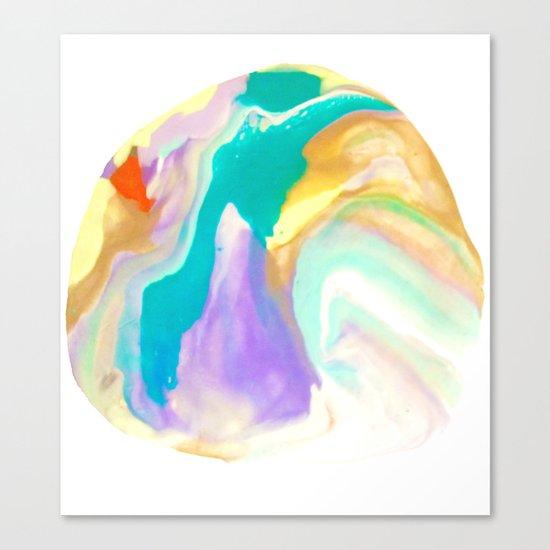 Deep Sea Colorful Surprises Marbling Canvas Print