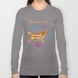 dog caress funny evil fur paw gift Long Sleeve T-shirt