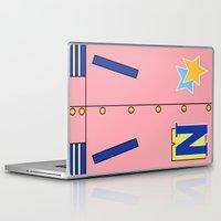 iwatobi Laptop & iPad Skins featuring Nagisa Jacket by Bunny Frost