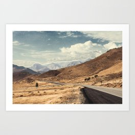 Road trippin California Art Print