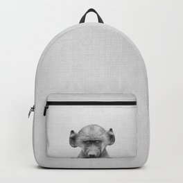 Baby Baboon - Black & White Backpack