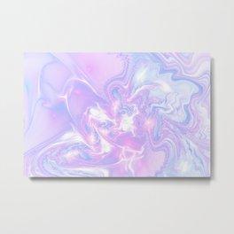 Purple Fantasy Marble Metal Print