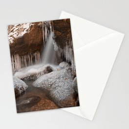 Stream of Frozen Hope Stationery Cards