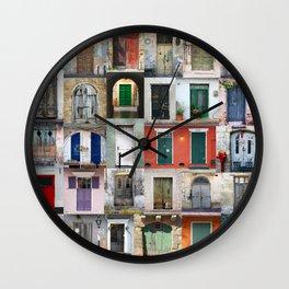Thirty Doors Wall Clock