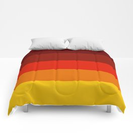Multicolor Retro Strips Comforters