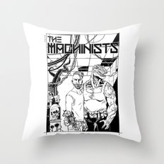 The Machinists - Black & white variant Throw Pillow