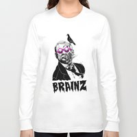 political Long Sleeve T-shirts featuring political zombie theme by Krzysztof Kaluszka