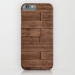 Reclaimed Floorboards Wood Pattern iPhone Case