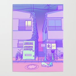 Pastel Tokyo Cats Poster