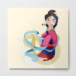 Mulan: Reflection Metal Print