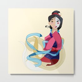 Mulan: Reflection Metal Print