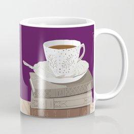 Teacup, Jane Austen, & Charlotte Brontë Books Coffee Mug