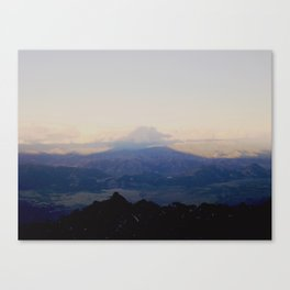 Shadow of the volcano Canvas Print