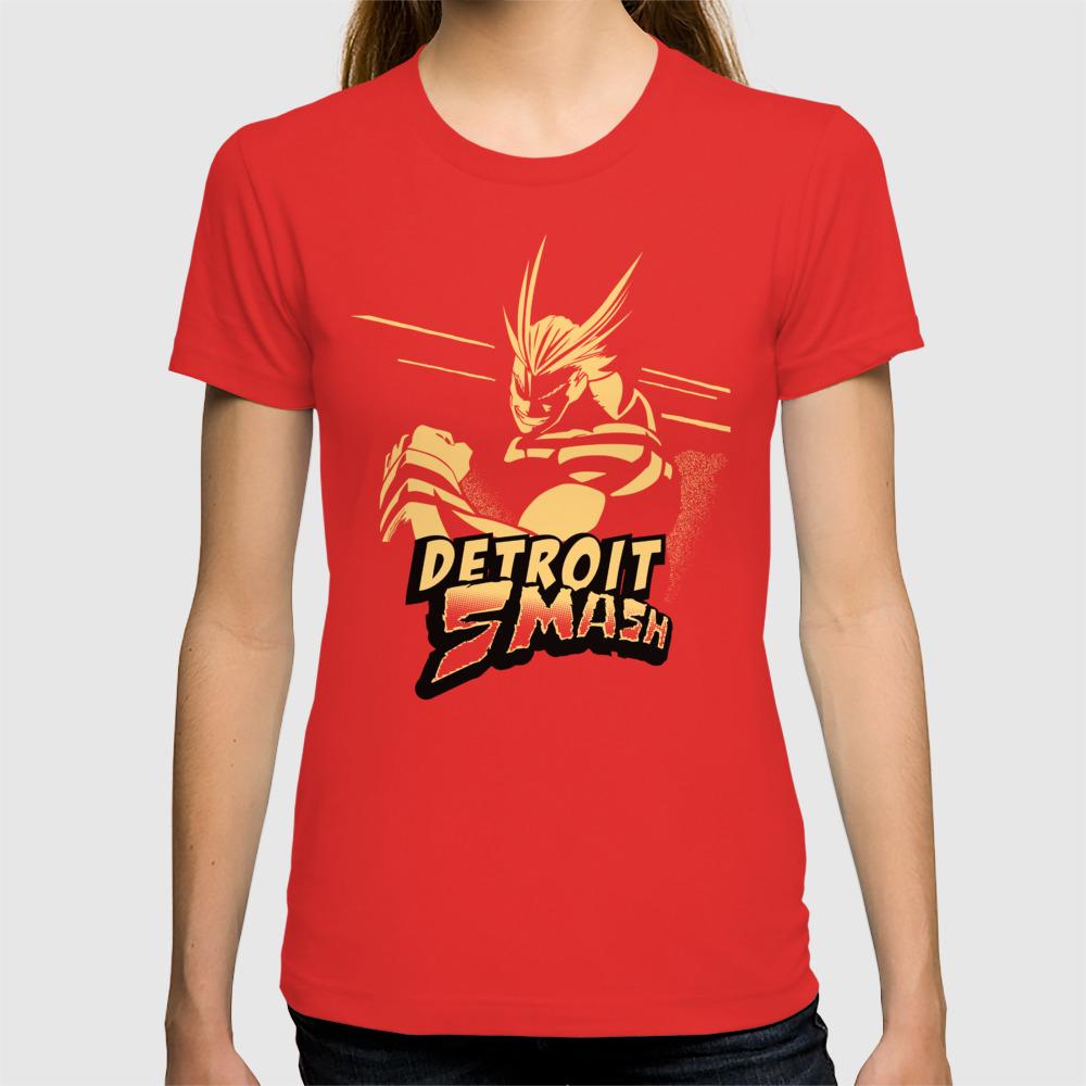 73d39385 All Might Detroit Smash T-shirt by soujohn | Society6