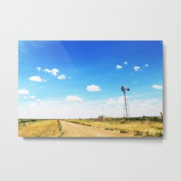 Windmill in the Texas Panhandle Metal Print