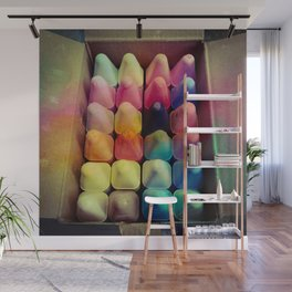 Fresh Colorful Chalk Wall Mural