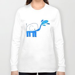 half empty elephant Long Sleeve T-shirt