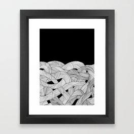 The tangled sea Framed Art Print