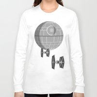 death star Long Sleeve T-shirts featuring Star Wars Death Star by foreverwars