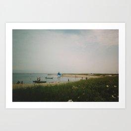 MENHAUNT, CAPE COD: THE LITTLE BEACH Art Print