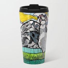 Llama and Andes Travel Mug