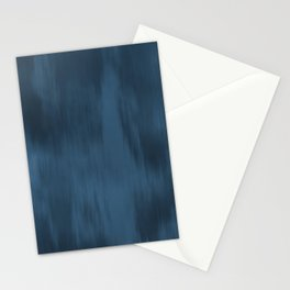 Blue Abstract Fusion Watercolor Blend Pairs To 2020 Color of the Year Chinese Porcelain PPG1160-6 Stationery Cards