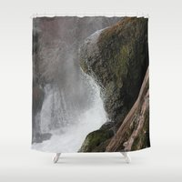 lip Shower Curtains featuring The Lip by Jeffrey J. Irwin