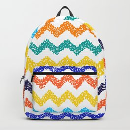 Chevron dotted background. Modern texture. Backpack