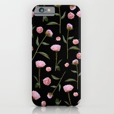 Peonies on Black iPhone 6s Slim Case
