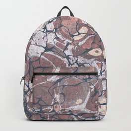 Red Nile Marbled Paper Backpack