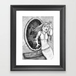 Mirror mirror Framed Art Print