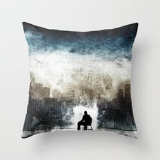 City Thoughts Throw Pillow