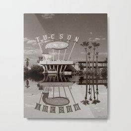 The Tucson Inn Vintage Hotel Neon Sign Metal Print