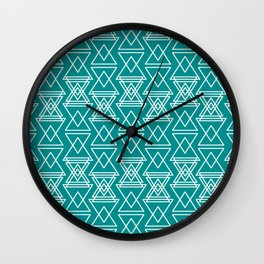 RIGHT AND WRONG III: FEELING BLUE Wall Clock