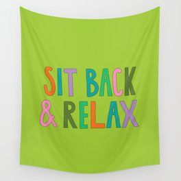 Sit Back & Relax Wall Tapestry