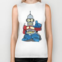 bender Biker Tanks featuring Optimus Bender by darko888
