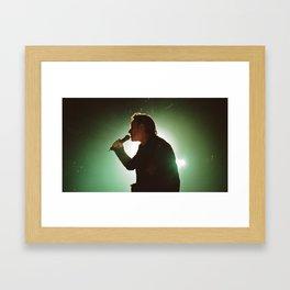 Bono Silhouette Tampa Framed Art Print