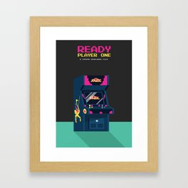 Ready Player One Minimalist Poster - 80s Arcade Framed Art Print