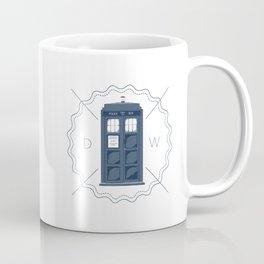 Badge inspired by Doctor Who's TARDIS  Coffee Mug