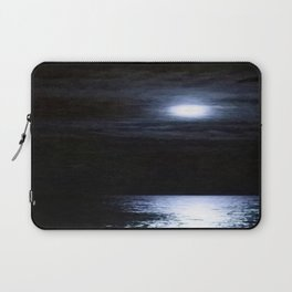 Moon Over Lake Michigan Laptop Sleeve