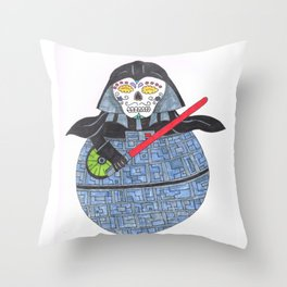 Sugar Skull Dark Lord Throw Pillow
