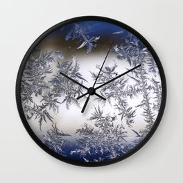 Frost Covered Glass Wall Clock