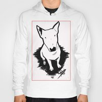 bull terrier Hoodies featuring bull terrier by sabrina.gennari
