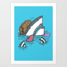The Mom Shark Art Print