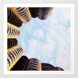 River City Marina shapes Art Print