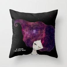 In solitude Throw Pillow