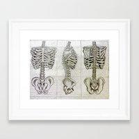 bones Framed Art Prints featuring Bones by Kristen Willsher