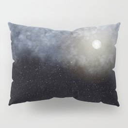 Glowing Moon in the night sky Pillow Sham